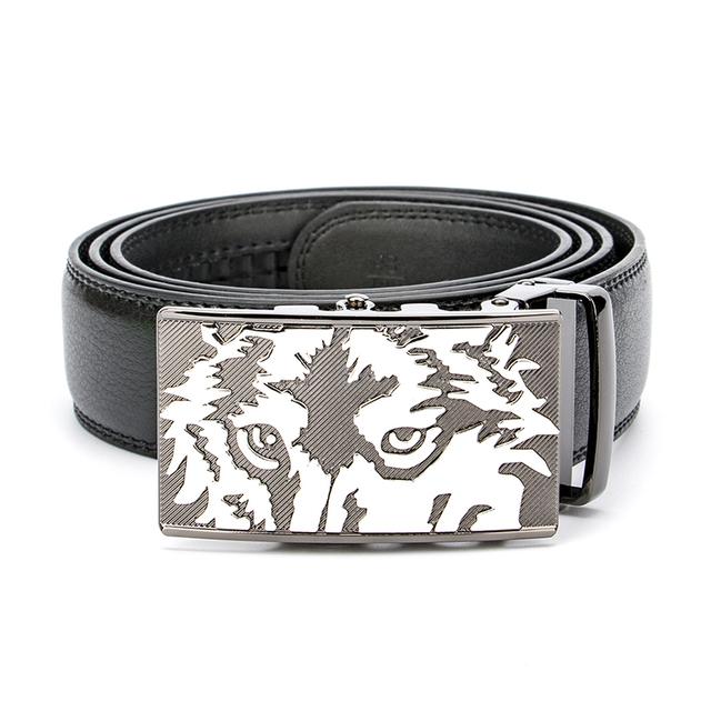 2017 Nueva Lobo Cinturones de Diseñador Hombres de Alta Calidad de Lujo de Negocios Hombre de Cuero Verdadero Genuino Punky Boda de La Correa para Los Pantalones Vaqueros de Cintura