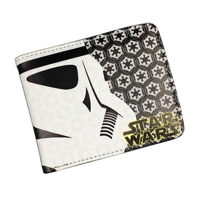 Bioworld Anime Wallet Starwar Star Wars Short Purse Leather Credit Card Holder Bags Gift Boy Girls Folder Wallets 4.5*3.5 inch