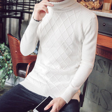 Can turn the Turtleneck Shirt Men's slim type pure Korean men's casual wear sweaters in autumn and winter