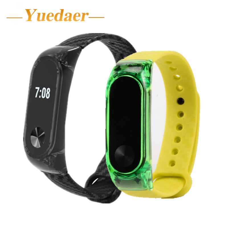 Yuedaer Miband 2 Silicone Strap For Xiaomi Mi Band 2 bracelet strap fitness tracker sport band replacement for xiomi mi band 2 wristband watch 2018 replacement band strap metal case cover for xiaomi mi band 2 bracelet 0703