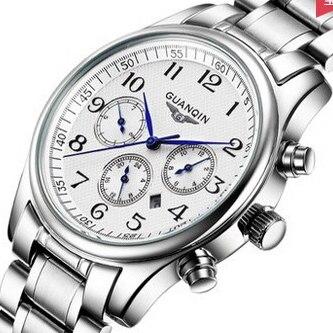 ФОТО GUANQIN Men's quartz watch men top brand luxury wristwatch Waterproof Sapphire Quartz watch man hours fashion watches men