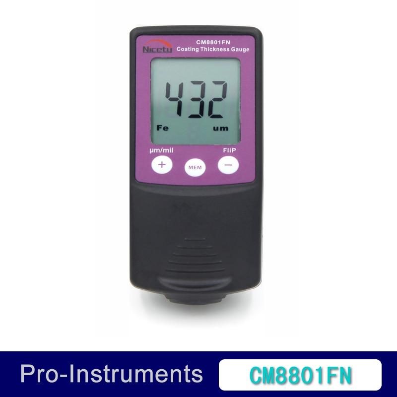 Gentileza cm8801fn fe y NFE 2 en 1 coche Pintura corporal calibre medidor de espesor de revestimiento Películas espesor tester