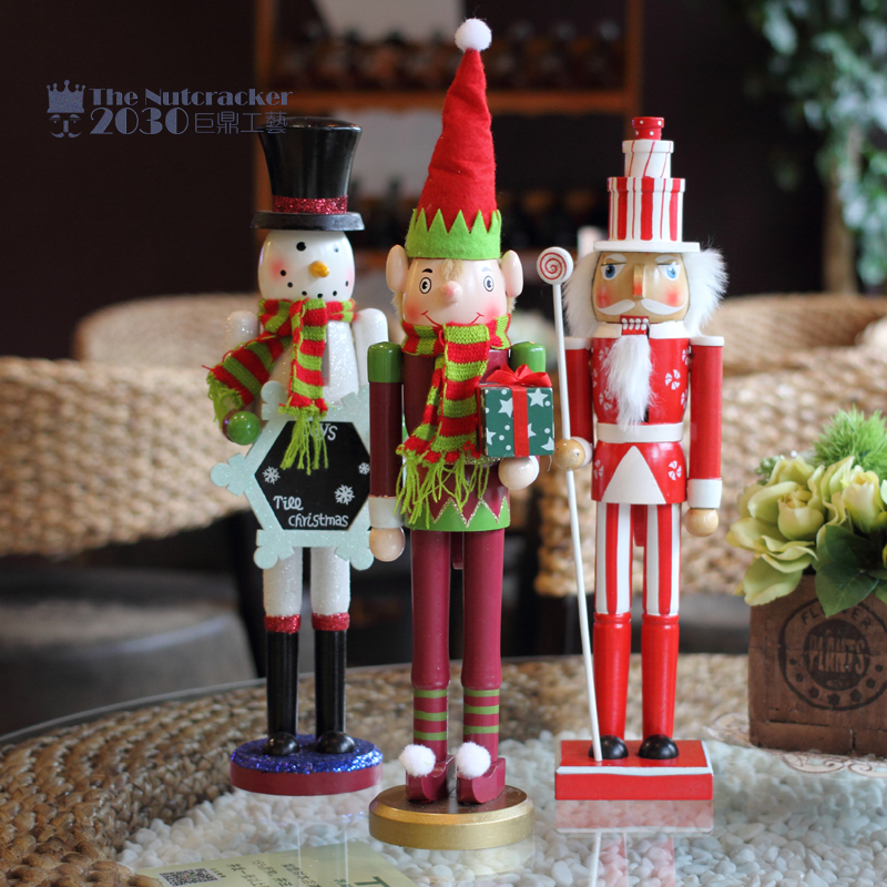 2030 The Nutcracker Sweet Christmas Decorations Home Furnishing Ornaments  Series Puppet King Snowman Elf In Figurines U0026 Miniatures From Home U0026 Garden  On ...