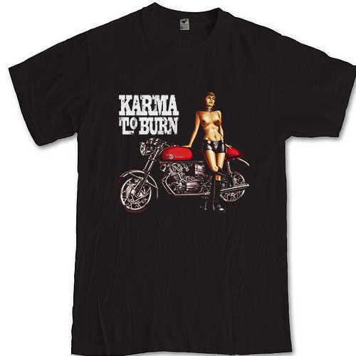 KARMA TO BURN K2B T-shirt S M L XL 2XL 3XL Stoner rock band Year Long DisasterHip-Hop Casual Clothing