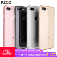 PZOZ Luxury Brand TPU Silicon Slim Clear 360 Transparent Silicone Case Cover For Apple iPhone 7 Plus 7Plus iPhone 8 Plus Case