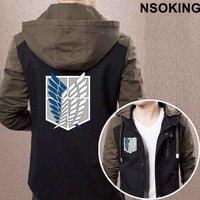 2017 New Spring Autumn Attack On Titan Hoodie Fashion Anime Cool Coat Men Zipper Jacket