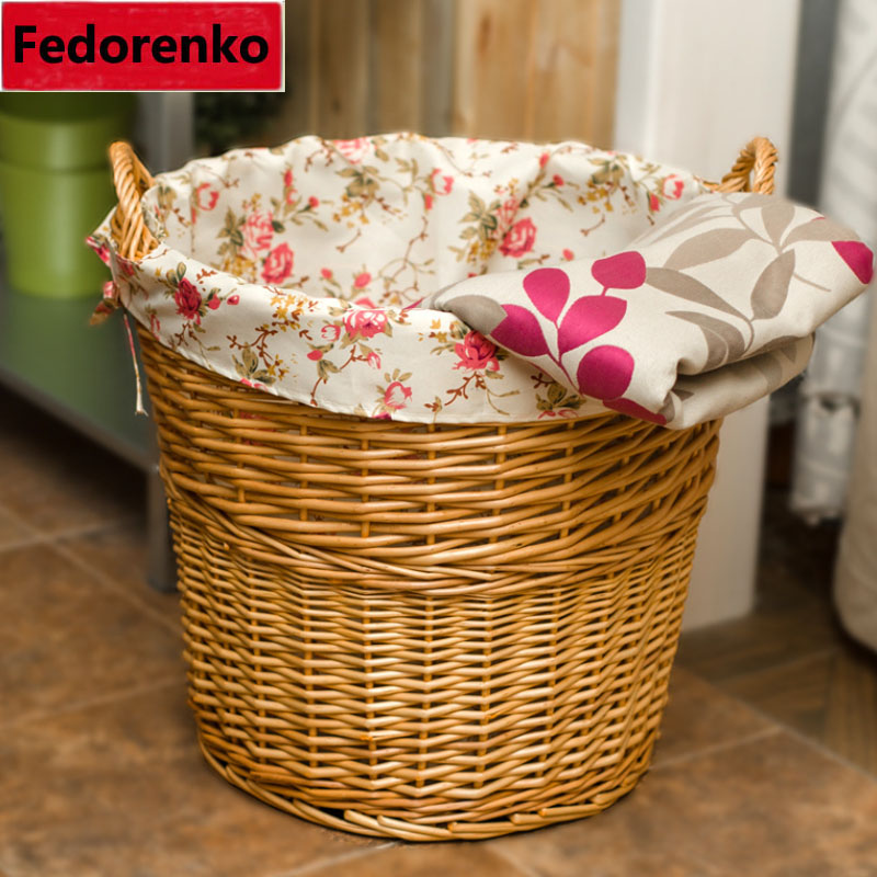shporta e punuar me dorë natyrale të endura me shporta rroba të - Magazinimi dhe organizimi në shtëpi - Foto 3