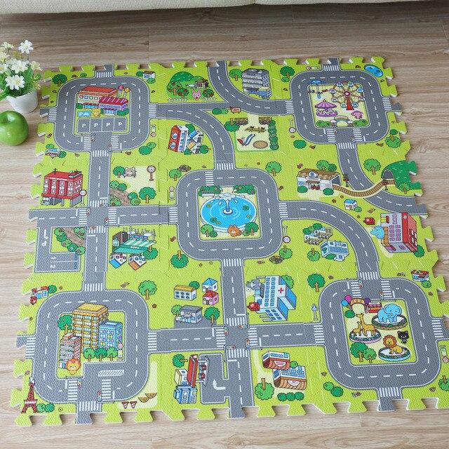 New! 9pcs Baby EVA foam puzzle play floor mat,City Road Education ...