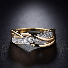Fashion spiral crystal ring gold cubic zirconia finger rings for women girls elegant engagement wedding bride lady jewelry gift shdede cubic zirconia elegant charm bracelets for women bride wedding fashion jewelry heart valentine s day gift whe262