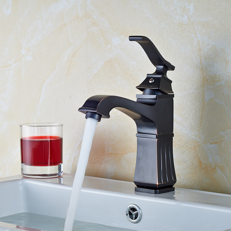 Newly Oil Rubbed Bronze Bathroom Sink Faucet Single Handle Countertop Basin Mixer Tap deck mount countertop bathroom kitchen faucet single handle tall basin sink mixer taps oil rubbed bronze