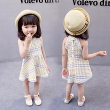 Dot Design Girl Dresses Sleeveless Cotton and Lace Toddler Baby Girl Dress Summer Dresses For Girls Kids Gift Children Clothes