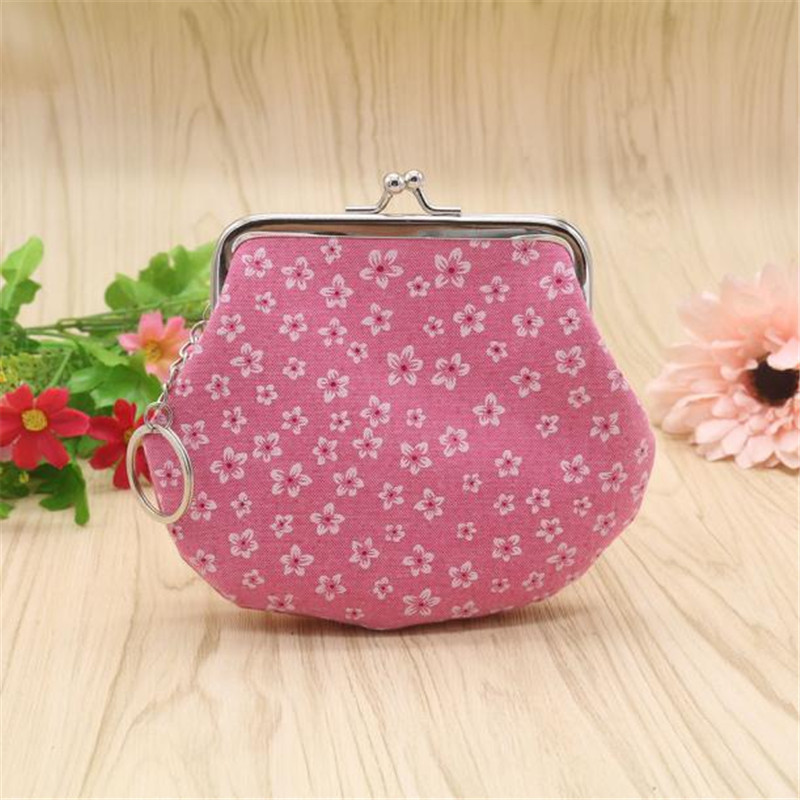 Modern2018 Women Girl Princess 5colors Flower Pattem Small Wallet Clutch Bag Coin womens purse Female Card Holder Handbag Bag