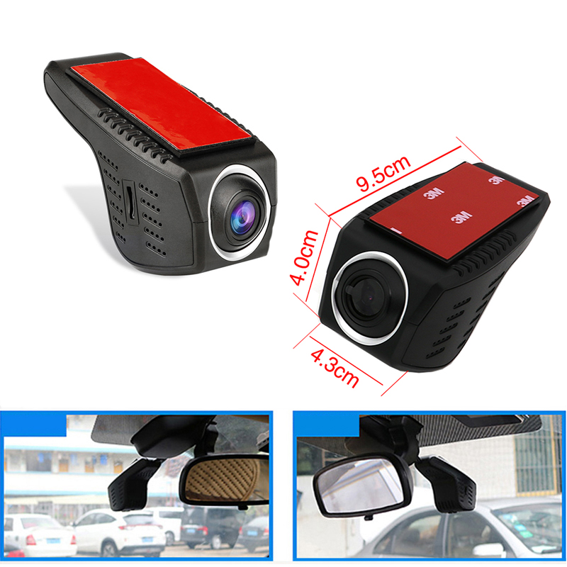 פורד Ainina WiFi מוסתרת רכב DVR מקליט מצלמת עבור BMW / טויוטה / הונדה / בנץ / פורד וכו, 24 שעות במצב חניה dashcam רכב ראיית לילה (1)