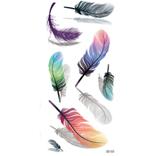 3D Body Art Beauty Makeup Sexy Feather Tattoo Waterproof Gold Tattoo Temporary Tattoo Stickers for Girl