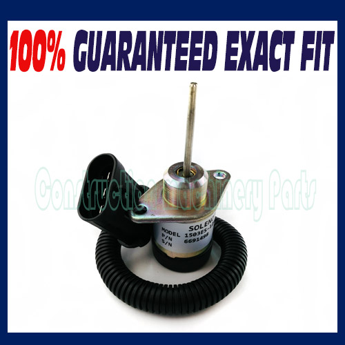 FUEL SHUT OFF SOLENOID SWITCH FOR BOBCAT 6691498 1503ES12A5UC4S EXCAVATOR FUEL SHU fuel shut off solenoid valve coil 3964624 fits excavator engine