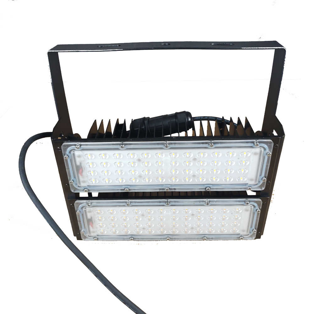 Microwave Sensor Automatic Switching Daylight Sensor Lighting Fixture LED 100W High Bay Floodlight for Warehouse, Garage