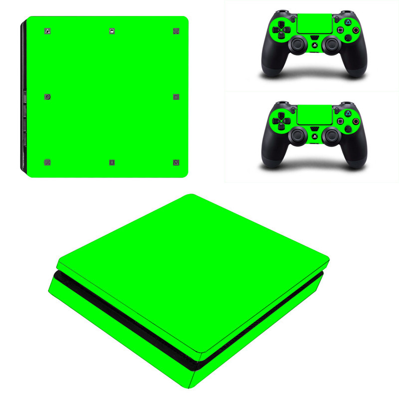 Solid Color Series Vinyl Decal Protective Cover Designer Skin Sticker For  Playstation 4 For PS4 Gaming Console+ 2 Controller-in Stickers from  Consumer