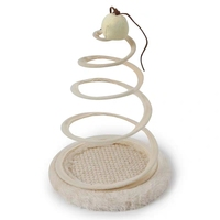 2019 Hot Sell Simulation Mouse Plush Spring Funny Cat Toy Spiral Steel Wire Spring Disc Creative Spring Plate Funny