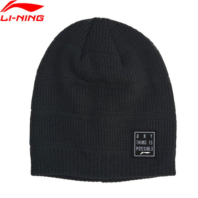 Li-Ning Unisex The Trend Knit Cap Winter Warm Anti Static 100% Acrylic LiNing Comfort Sports Caps Hats AMZN001 PMM319