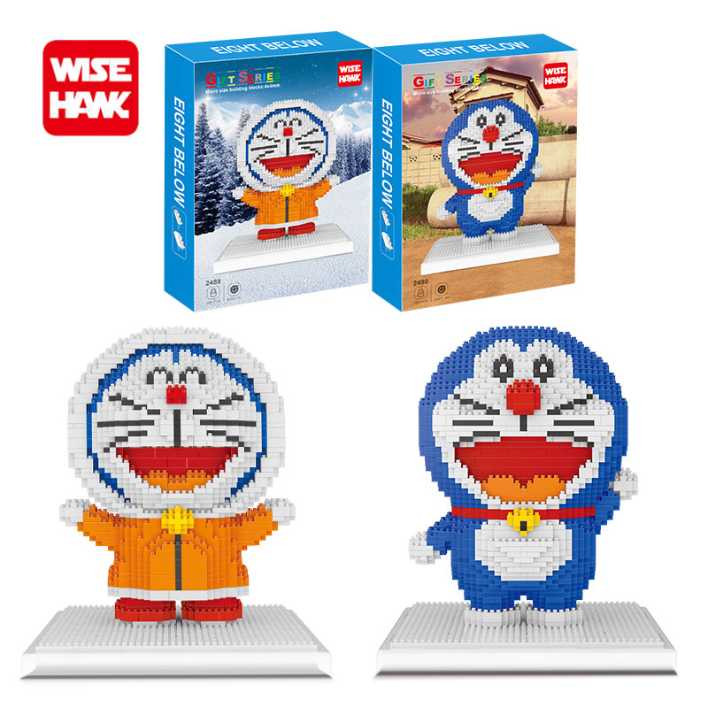 Wisehawk nanoblock diy mini blocks Doraemon anime cartoon cute micro building blocks bricks toys gifts for children with box.
