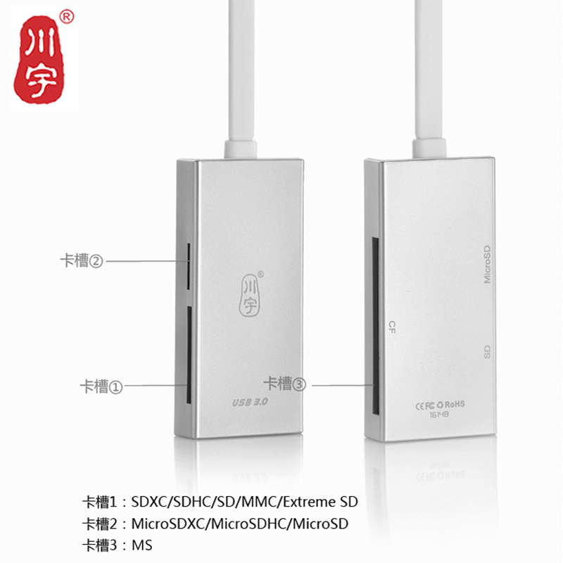 Kawau USB 3.0 Microsd Card Reader Supports Up to 512GB with SD MS Slot Card Reader C317 High Quality Speed for Computer