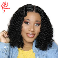 Hesperis 13x6 Lace Front Human Hair Wigs With Baby Hair 130 denistity Brazilian Remy Curly Lace Front Wigs Pre pluck Short Wigs