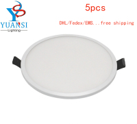 5pcs White Color Led Panel Light 5w 8w 16w 22w 30w Ultra Slim 4014SMD Round Square