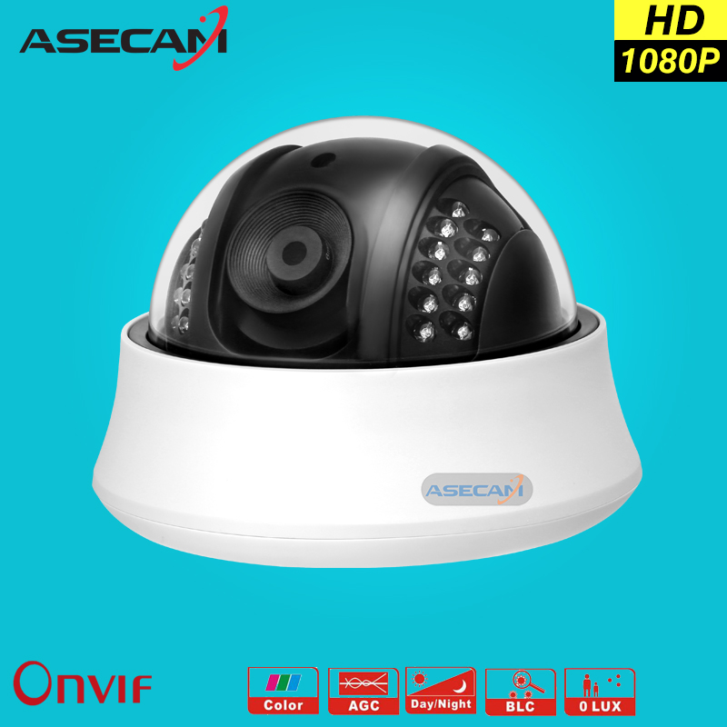 Asecam HD IP Camera 1080P indoor white Dome Hi3516C Surveillance Camera CCTV IR Night Vision Onvif WebCam Secuirty ipcam 4pcs lot 960p indoor night version ir dome camera 4 in1 camera 3 6mm lens p2p onvif abs plastic housing