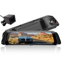 9.66 Car DVR Mirror Camera Android Video Recorder Dual Lens Registrar Rear view dvrs Dash cam