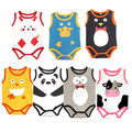 Baby Bodysuits Sling Sleeveless Short Sleeved Cotton Baby Jumpsuit Baby Clothes Cartoon Baby Girls Bodysuits