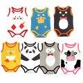 Bodysuits Estilingue do bebê Sem Mangas de Algodão de Manga Curta Bebê Macacão Roupa Do Bebê Dos Desenhos Animados Do Bebê Meninas Bodysuits