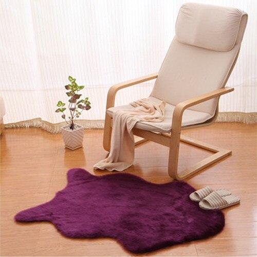 Excellent Knstliche Haut Flauschigen Fell Stuhl Sitzkissen Sofa Abdeckung  Teppich Matte Pad Bereich Teppich Home Dekorative Plain Wei Grau Lila With.