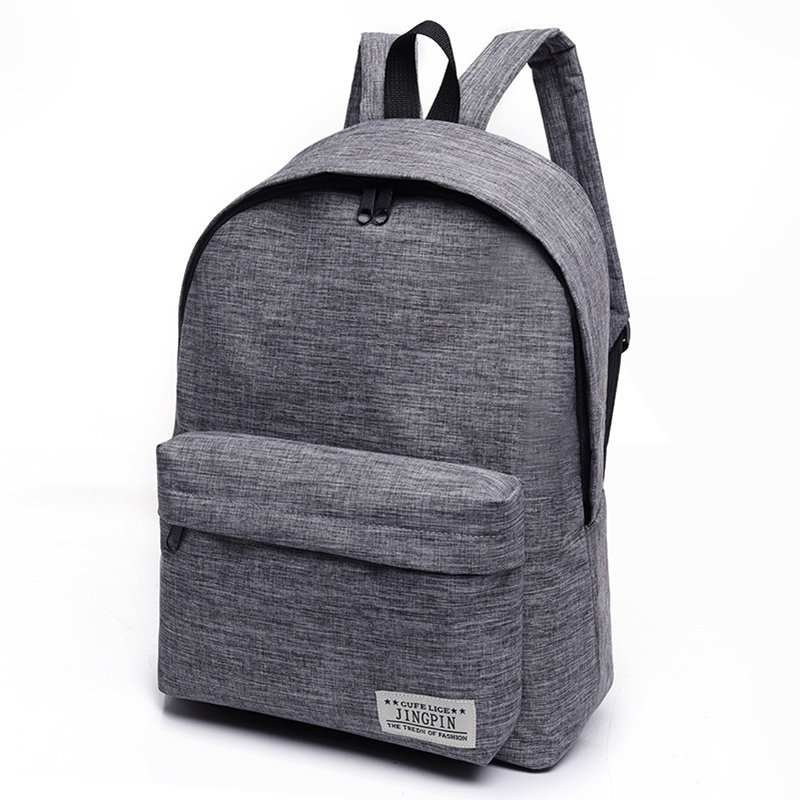 Canvas Shoulder Bag Male School Backpacks Rucksacks Leisure For Teenage Mochila Escolar Gray Bag Korean Tide Small Fresh Bagpack
