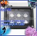 Super Flood Aqua LED 6x3w - led aquarium lighting professional lamp for coral reef fish SPS tank, bright aquarium lamp