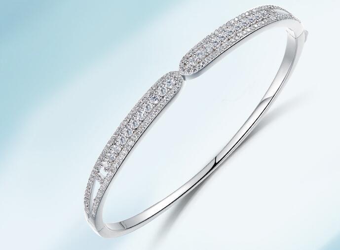 YPD129  925 Silver Lady  bracelet  with Zircon Girls Wedding braceletYPD129  925 Silver Lady  bracelet  with Zircon Girls Wedding bracelet