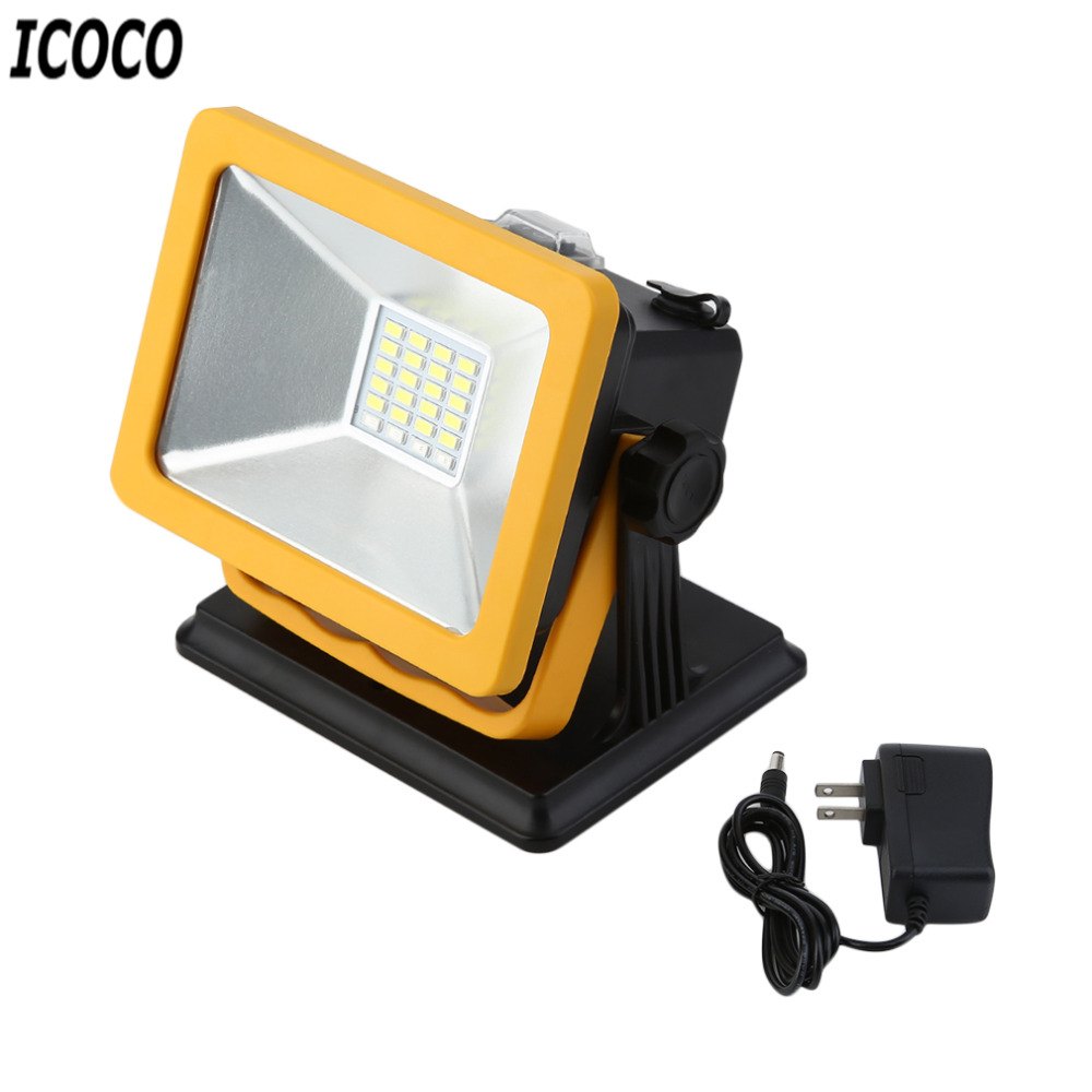 ICOCO Rechargeable LED Flood light 15W Waterproof IP65 Portable LED Spotlights Outdoor Work Emergency Camping Work Light