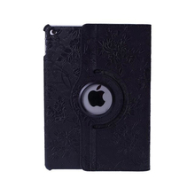 Luxury Smart Cover Stand Flip Design 360 Rotating Series Heat Emission Holes Grape Pattern PU Leather case for ipad Mini 1/2/3