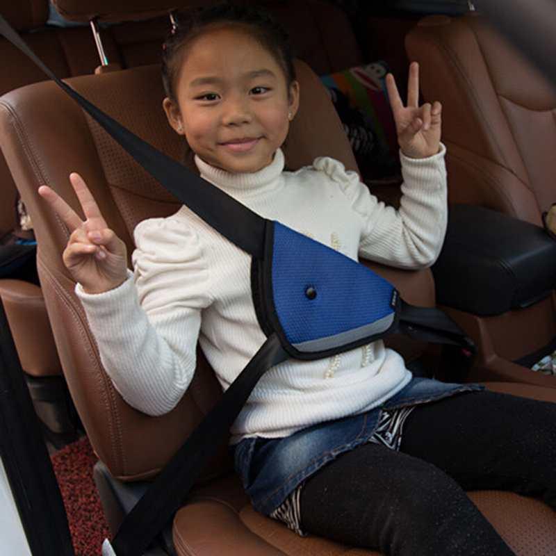 1Pcs (Beige) Car Road Safety Seat Belt Adjuster Car Safety Belt Device Baby Child Protector Positioner Car Seat Cover