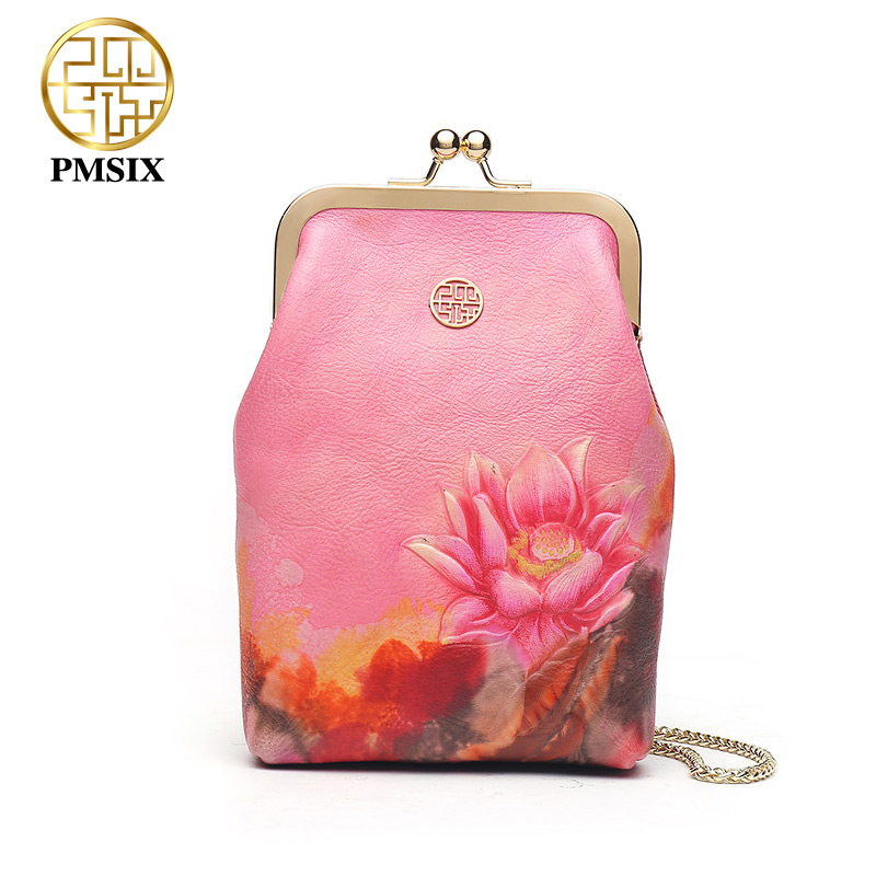 PMSIX Hasp Fashion Embossed small women bag girl portable single shoulder bag women Inclined shoulder bag