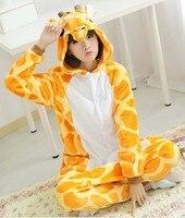 Free Shipping Giraffe Pajamas Animal Pajamas Cosplay Costume Onesies For Adult Flannel Cartoon Animal Sleepwears