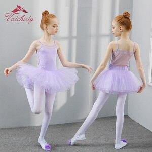 Image 3 - New Ballet Tutu Dress Girls Dance Clothing Kids Training Soft Skirt Costumes Gymnastics Leotards Wear
