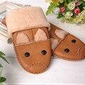 Малыш Зима Теплая Кожаные Перчатки детские Зимние Ветрозащитный Мягкие Перчатки Для Мальчика Девушки
