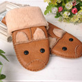 Kid Winter Warm Leather Gloves Children's Winter Windproof Soft Gloves For Boy Girls