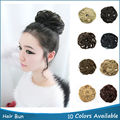 Synthetic Curly Elastic Chignon Hair Band Hair Bun Hairpiece Scrunchie Toupees Synthetic Hair extensions for Ponytail