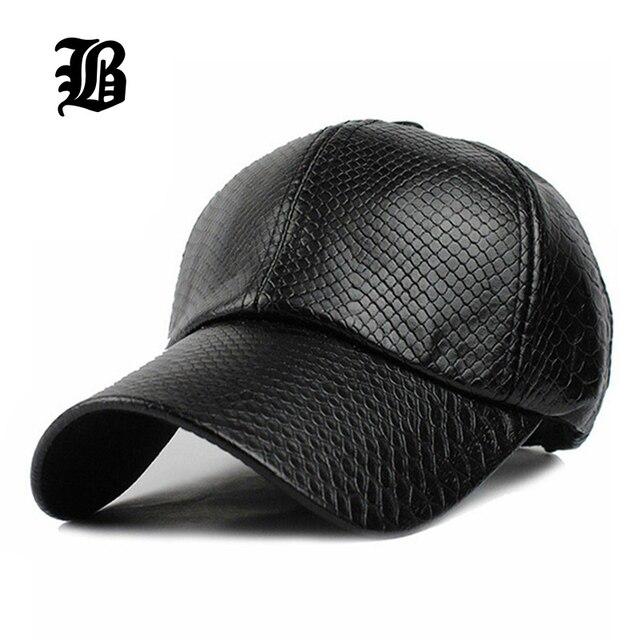[FLB] круто! новая мода PU черный Бейсбол Cap женщин Шляпы Для мужчин осень Кожа крышка Крышка Trucker Спортивные snapback зима для женщин