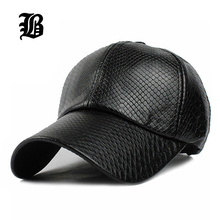 [FLB] Cool!new fashion PU black Baseball Cap women Hats For men fall Leather cap Trucker cap Sports snapback winter for women