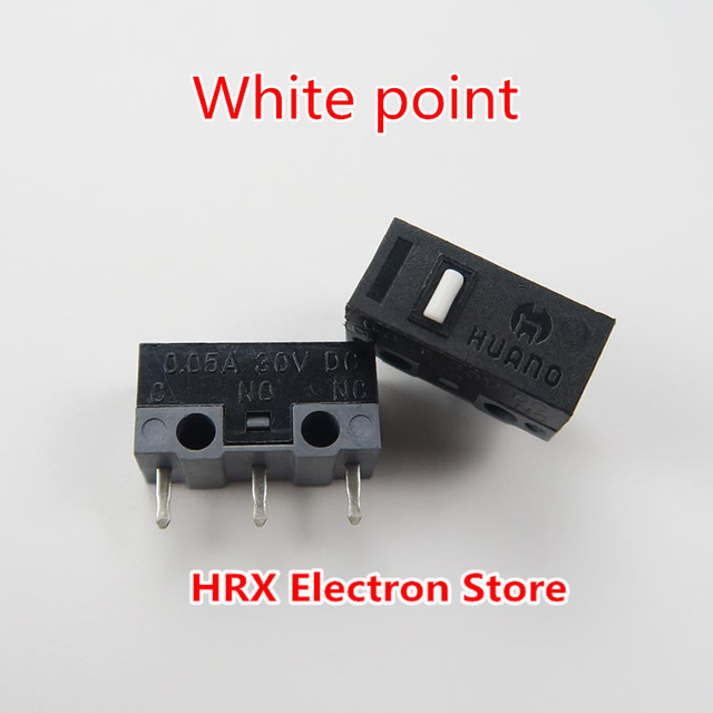 10PCS/LOT HUANO mouse micro switch button life of 3 million silver ...