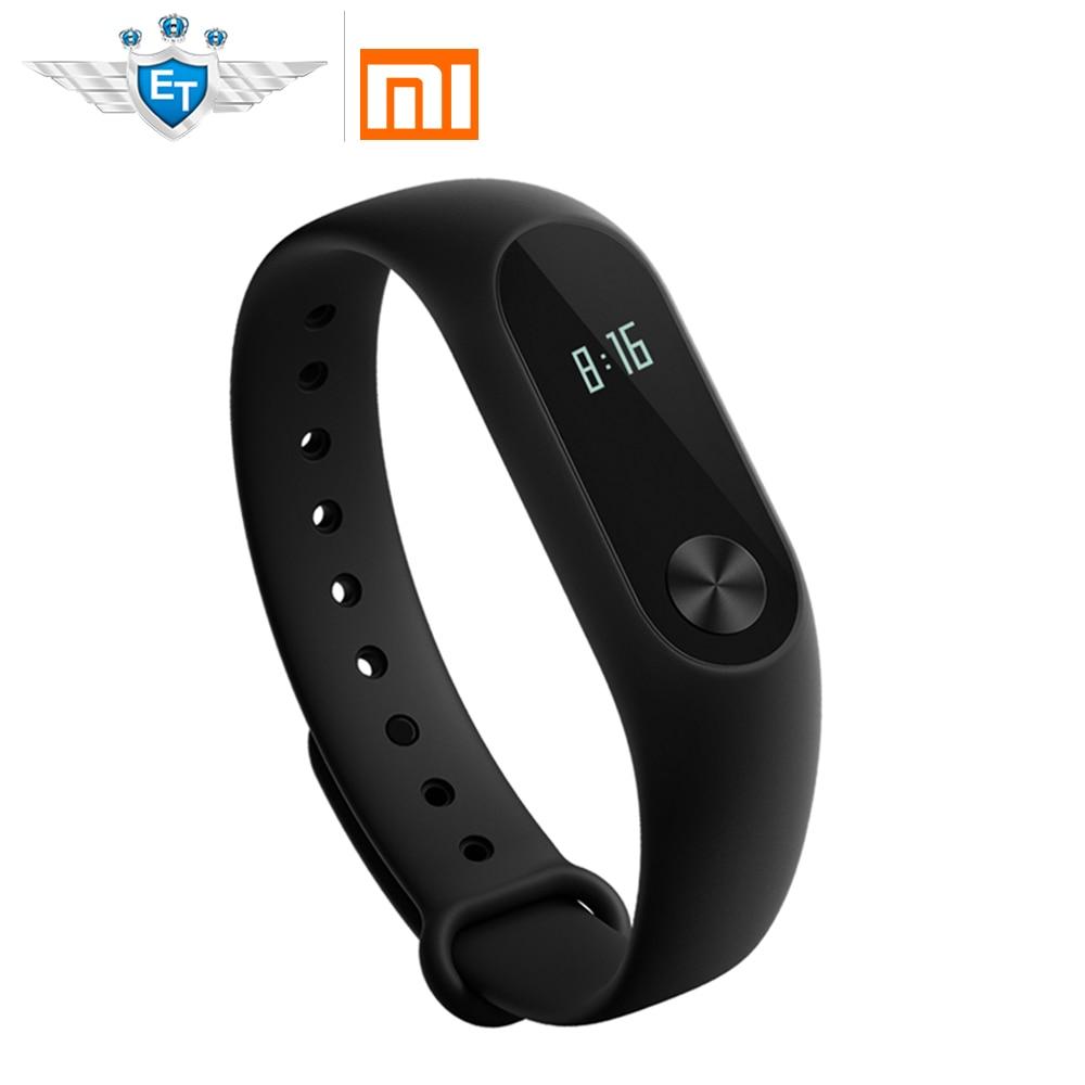 Versión global Xiao mi banda 2 banda de pulsera inteligente oled pantalla touchpad ritmo cardíaco Monitores Bluetooth 4.0 fitness Tracker CE