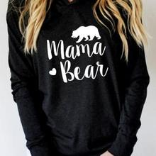 2018 VESSOS Women Shirts Blouse Sweatshirts MAMA BEAR Printe