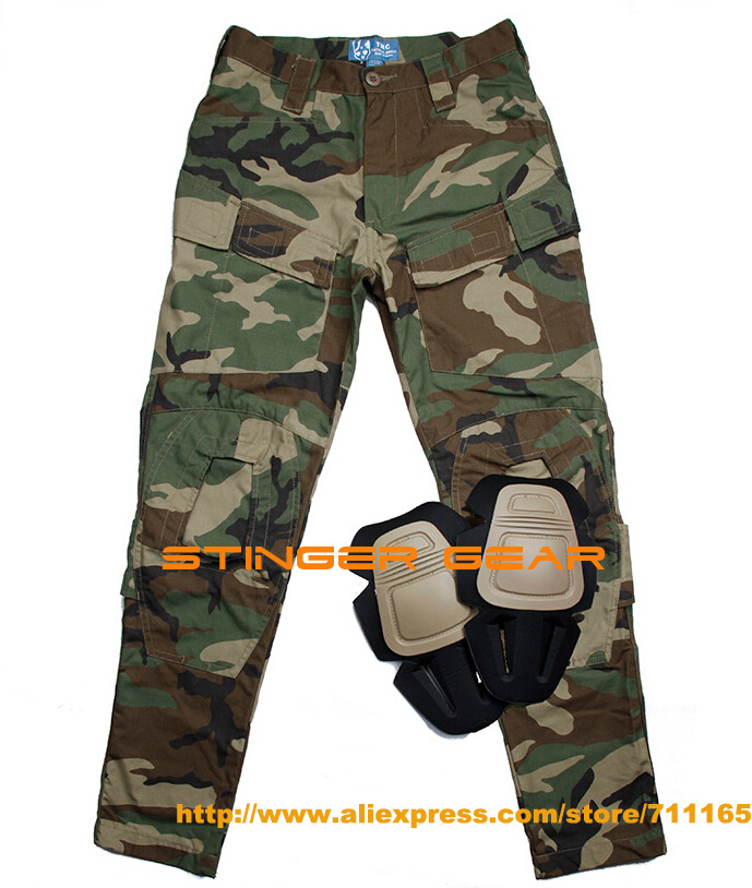 TMC E-ONE Woodland Combat Pants NYCO Outdoor Cargo Pants Men+Free shipping(SKU12050072) pants f e v by francesca e versace pants